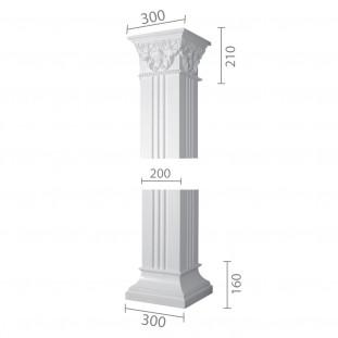 Квадратная колонна из гипса ка-12