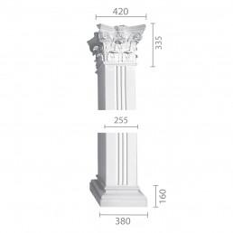 Квадратная колонна из гипса ка-51