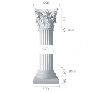 Колонна ка-60А (1/2) из бетона