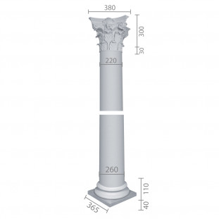 Колонна ка-66 (энтазис) из бетона