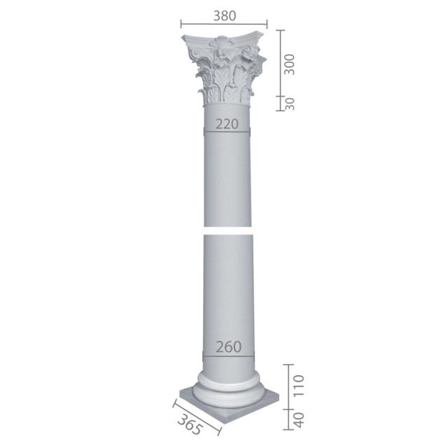 Колонна из гипса ка-66 (энтазис)