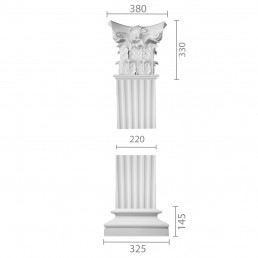 Квадратная колонна из гипса ка-67