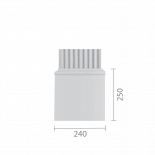 База колонны  б-84а (пилястра)