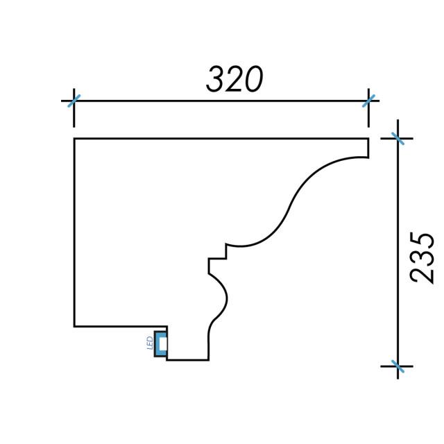 Фк световой-10 h235х320мм