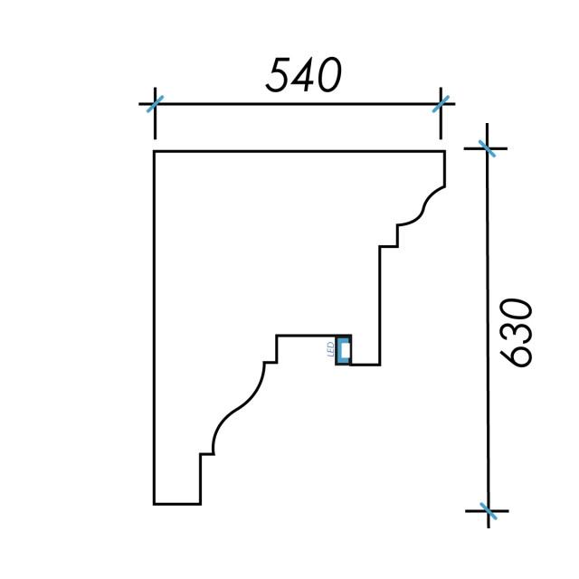 Фк световой-13 h630х540мм