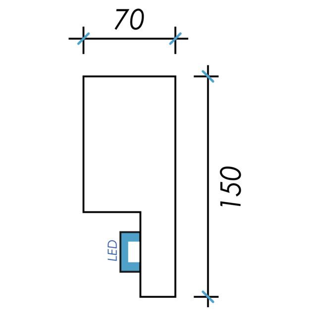 Фк световой-4 h150х70мм