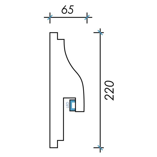 Фк световой-5 h220х65мм