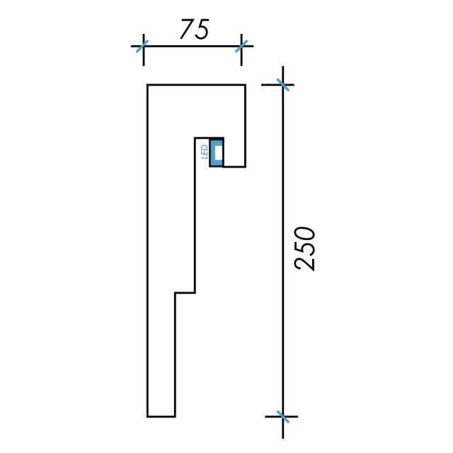 Фк световой-7 h250х75мм