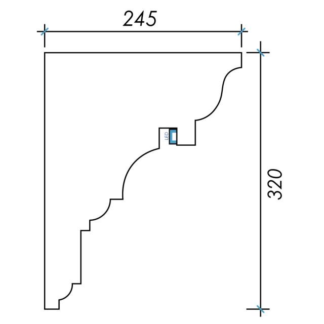 Фк световой-9 h320х245мм