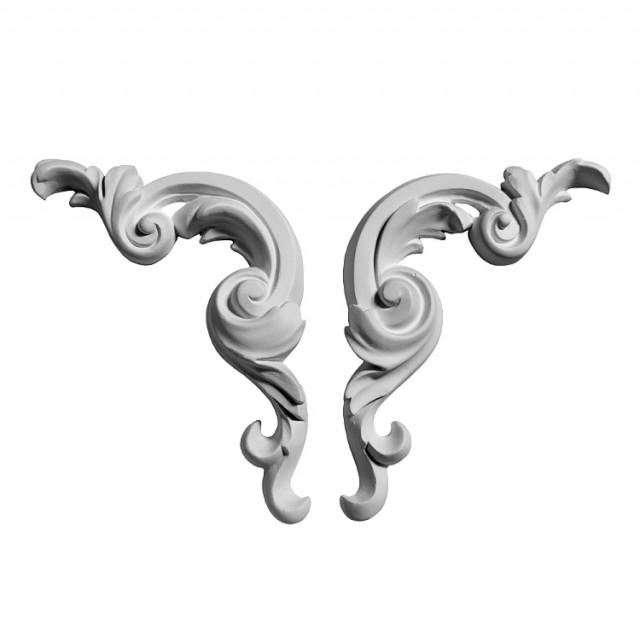 Гипсовая лепнина декоративный угол у-153 (154*65 мм)