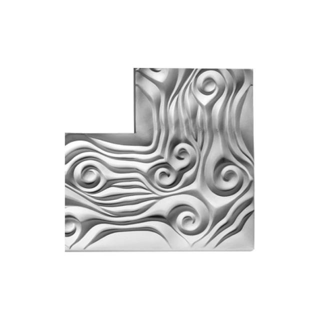 Гипсовая лепнина, декоративный угол У-137 h200х200мм