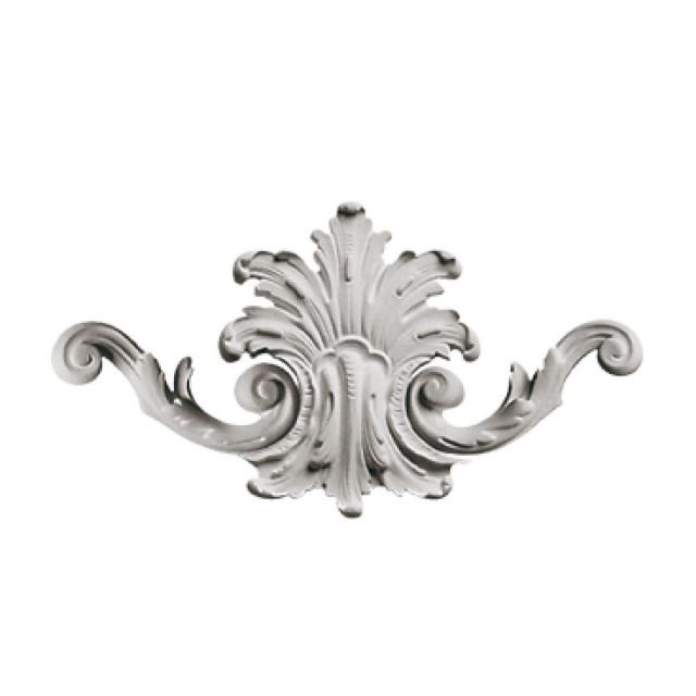 Гипсовая лепнина декоративный угол у-40 h150мм