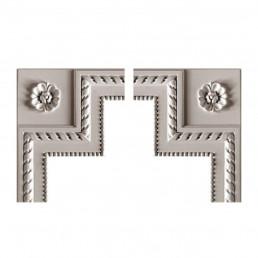 Гипсовая лепнина декоративный угол у-45 h221х198мм