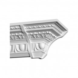 Гипсовая лепнина декоративный угол у-55 h92х113мм