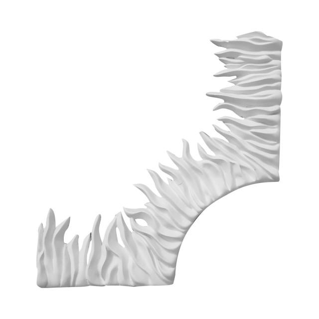 Гипсовая лепнина декоративный угол у-61 h260х260мм