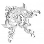Гипсовая лепнина, декоративный угол У-1001      h355х355 мм