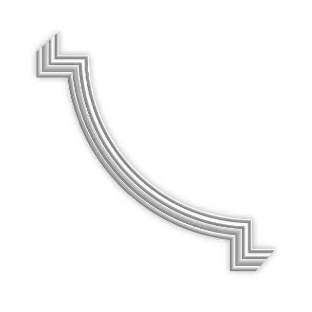 Гипсовая лепнина декоративный угол у-21 h135х135мм