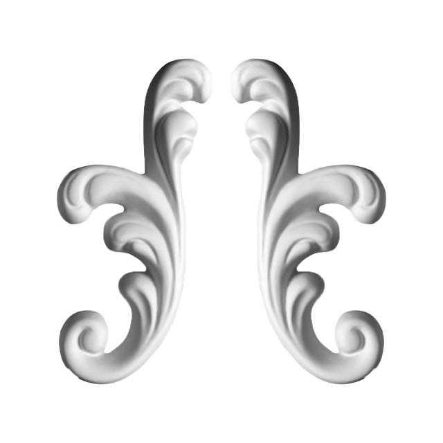Гипсовая лепнина декоративный угол у-22 h135мм