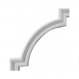 Гипсовая лепнина декоративный угол у-25 h185х185мм