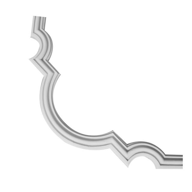 Гипсовая лепнина декоративный угол у-26 h240х240мм