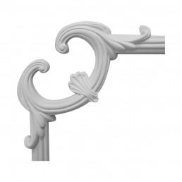 Гипсовая лепнина декоративный угол у-31 h250х250мм