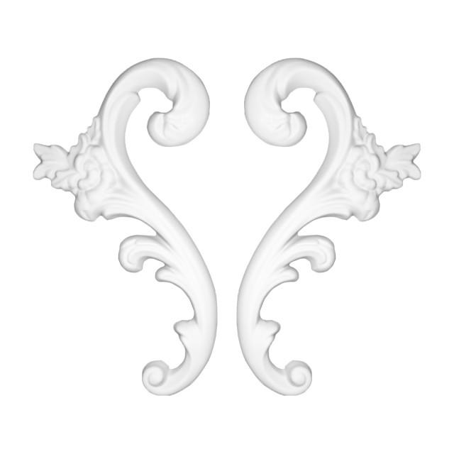 Гипсовая лепнина декоративный угол у-34 h255мм