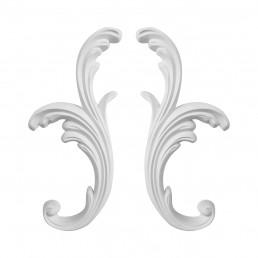 Гипсовая лепнина декоративный угол у-37 h280мм