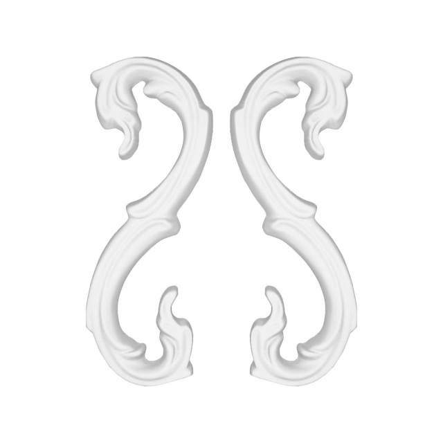 Гипсовая лепнина декоративный угол у-4 h130мм