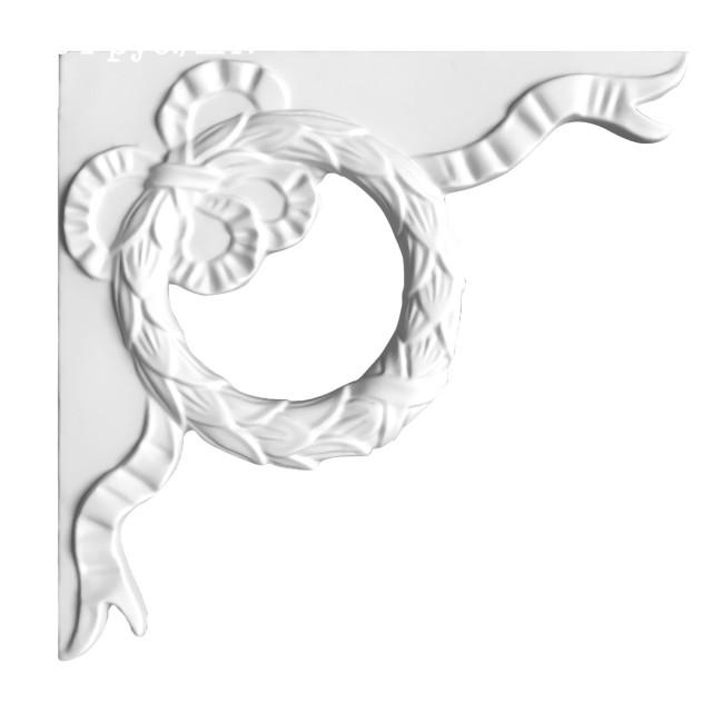 Гипсовая лепнина декоративный угол у-73 h500х500мм