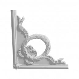 Гипсовая лепнина декоративный угол у-42а h250х250мм