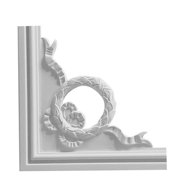 Гипсовая лепнина декоративный угол у-42б h220х220мм