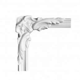 Гипсовая лепнина декоративный угол у-43 h150х150мм