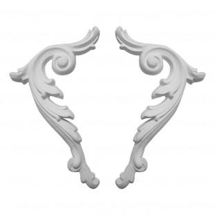 Гипсовая лепнина декоративный угол у-5 h150мм