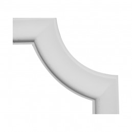 Гипсовая лепнина декоративный угол у-52 h165х165мм