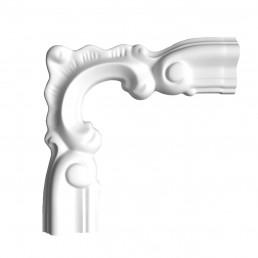 Гипсовая лепнина декоративный угол у-58 h135х135мм