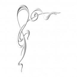 Гипсовая лепнина декоративный угол у-59а h660х410мм