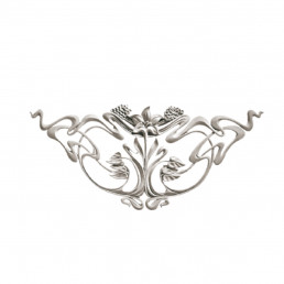 Гипсовая лепнина декоративный угол у-60 h415х970мм