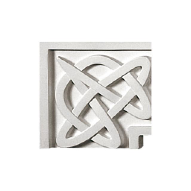 Гипсовая лепнина декоративный угол у-62 h114х114мм