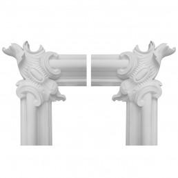 Гипсовая лепнина декоративный угол у-64 h290х270мм