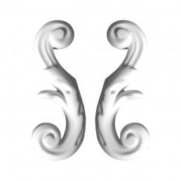 Гипсовая лепнина декоративный угол у-8 h120мм