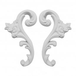 Гипсовая лепнина декоративный угол у-83 h143мм
