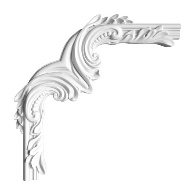 Гипсовая лепнина декоративный угол у-95 h200х200мм